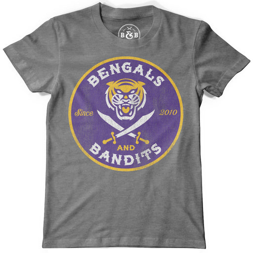 Bengals & Bandits Est Circle Toddler / Youth Tri-Blend T-Shirt - Grey