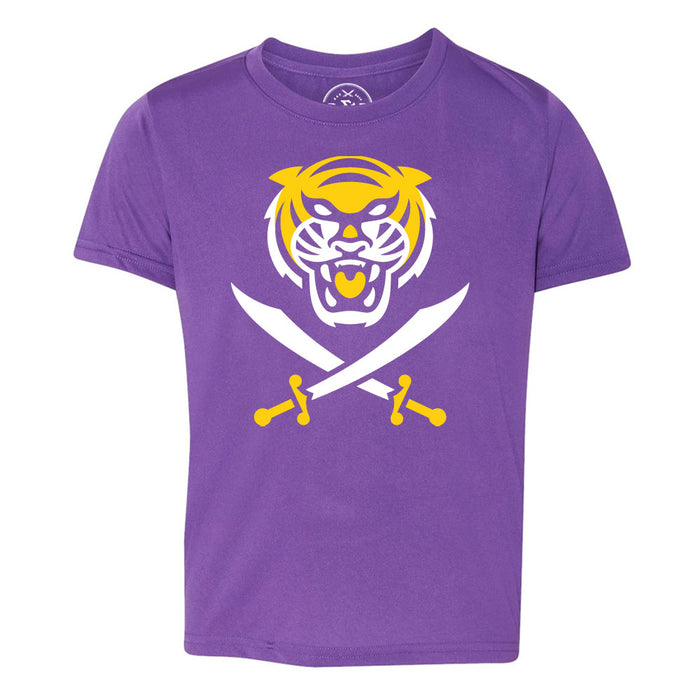 Bengals & Bandits Youth Performance Short Sleeve T-Shirt - Purple