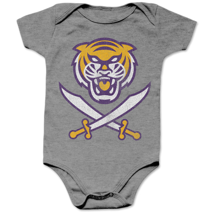 Bengals & Bandits Tri Color Infant Onesie - Grey