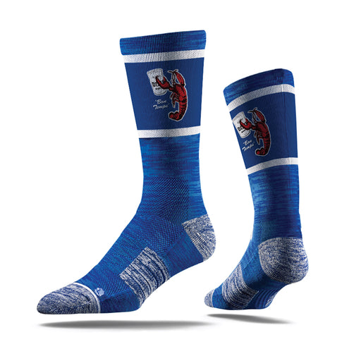 Louisiana Homegrown Good Times Crawfish Socks - Royal Blue