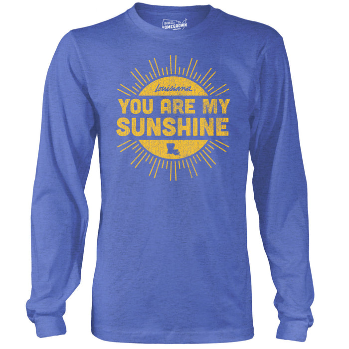 B&B Dry Goods Homegrown You Are My Sunshine Long Sleeve T-Shirt - Royal Blue