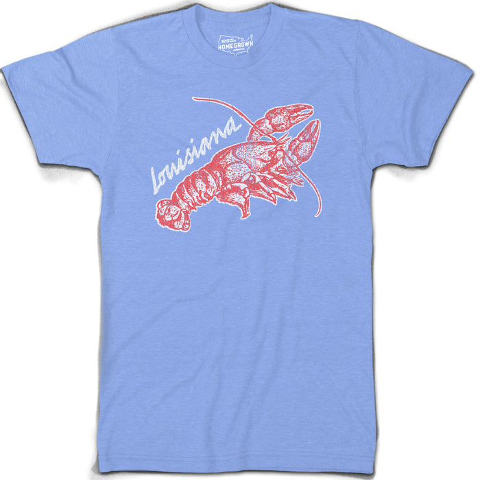B&B Dry Goods Homegrown Louisiana Crawfish T-Shirt - Columbia Blue