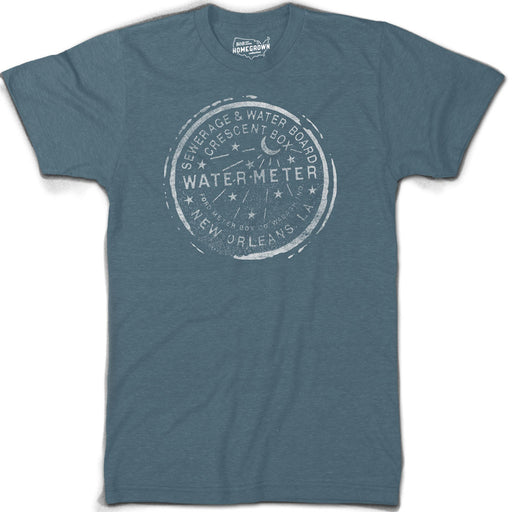 B&B Dry Goods Homegrown Louisiana Nola Water Meter T-Shirt - Teal