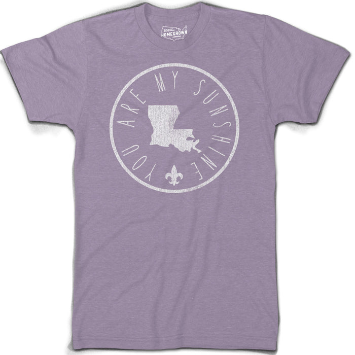 B&B Dry Goods Homegrown Louisiana Sunshine Circle T-Shirt - Purple