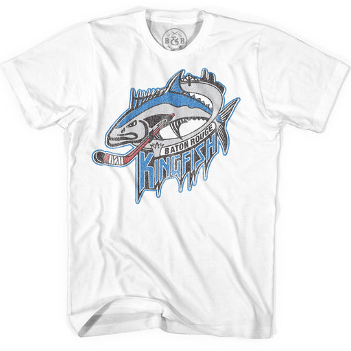 B&B Dry Goods Homegrown Louisiana Baton Rouge Kingfish T-Shirt - White