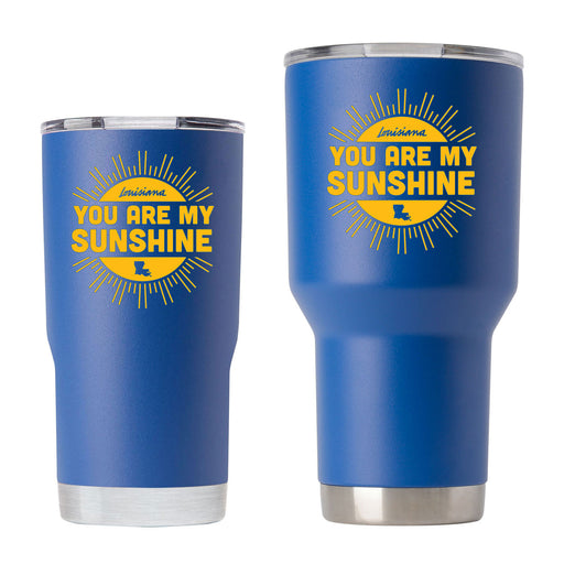 B&B Dry Goods Louisiana Homegrown You Are My Sunshine Tumbler - Royal Blue