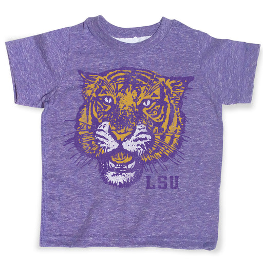 B&B Dry Goods LSU Tigers 78 Tiger Melange Toddler T-Shirt - Purple