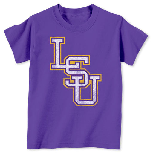 B&B Dry Goods LSU Tigers Baseball Interlock Toddler T-Shirt - Purple