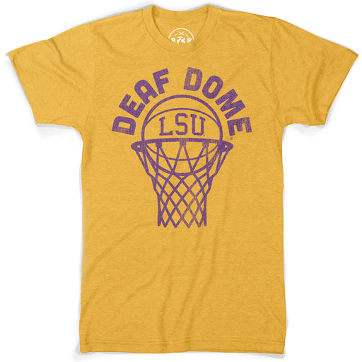 B&B Dry Goods LSU Tigers Basketball Deaf Dome T-Shirt - Heather Mustard