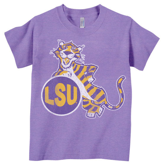 B&B Dry Goods LSU Tigers Esso Tiger Toddler / Youth T-Shirt - Tri-Orchid