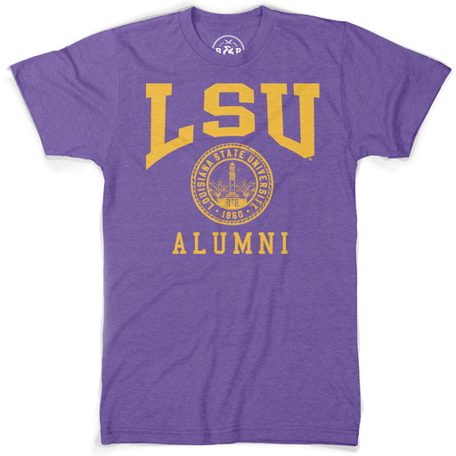 B&B Dry Goods LSU Tigers Alumni Seal T-Shirt - Purple