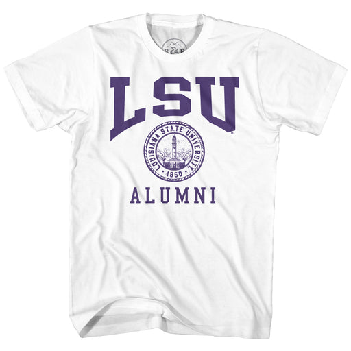 B&B Dry Goods LSU Tigers Alumni Seal T-Shirt - White