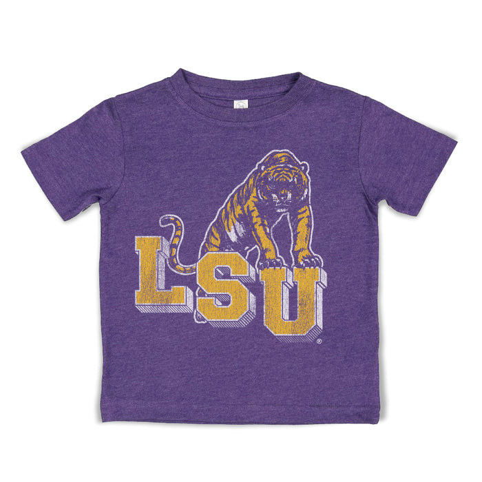 B&B Dry Goods LSU Tigers Retro Step Toddler T-Shirt - Purple
