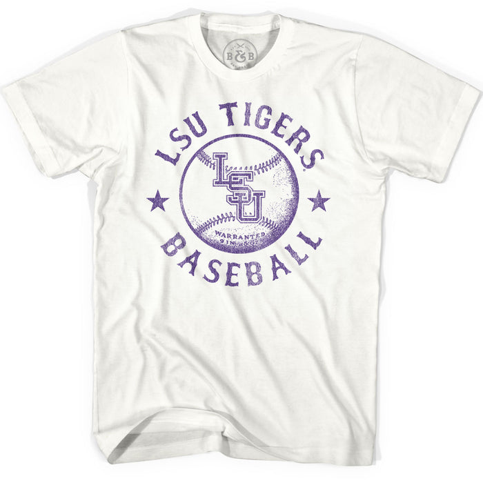 B&B Dry Goods LSU Tigers Baseball Warranted Tri-Bend T-Shirt - Natural