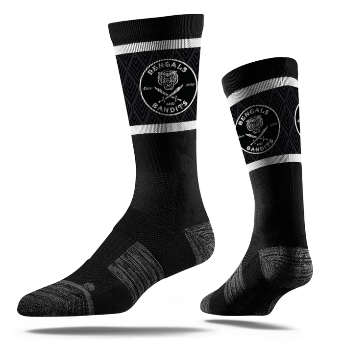Bengals & Bandits Circle Est Crew Socks - Black