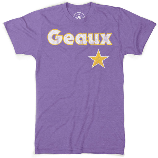 B&B Dry Goods Baseball Geaux Streauxs Star T-Shirt - Purple