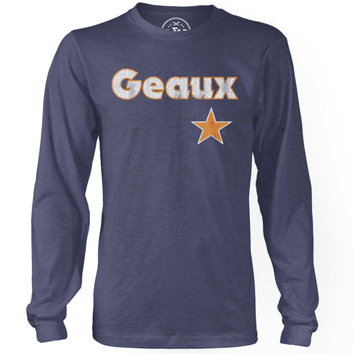 B&B Dry Goods Geaux Streauxs Tri-Blend Long Sleeve T-Shirt - Navy