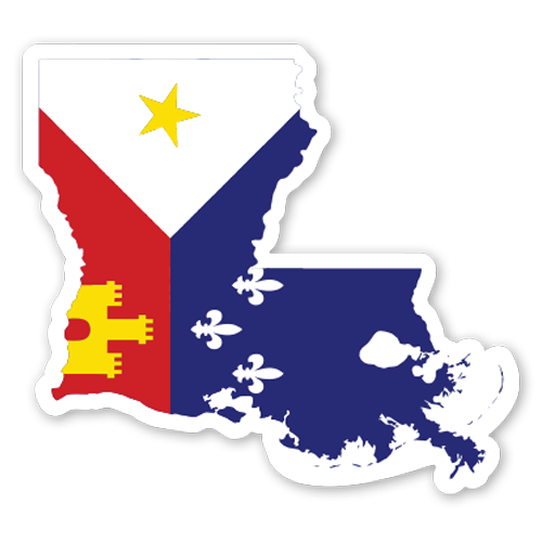 B&B Dry Goods Homegrown Acadiana Outline Decal