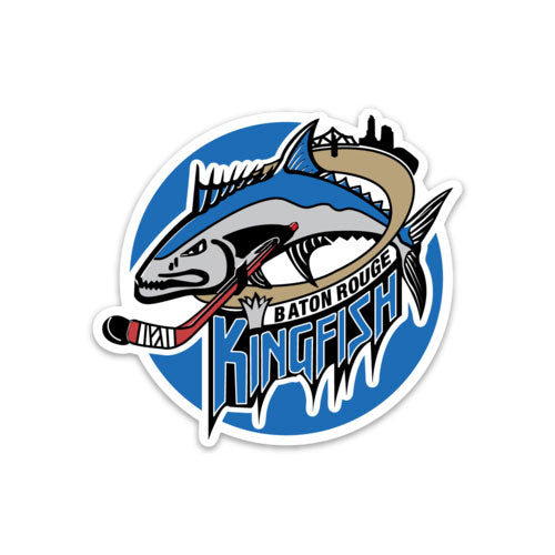 B&B Dry Goods Homegrown Baton Rouge Kingfish Hockey Decal