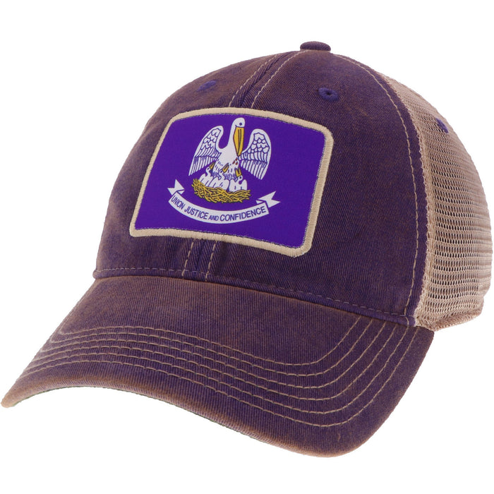 Homegrown Louisiana OFA Trucker Hat - Purple