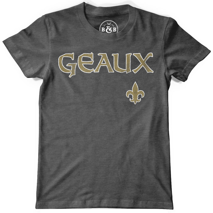 Copy of B&B Dry Goods Homegrown Louisiana Geaux Fleur De Lis Toddler / Youth T-Shirt - Charcoal
