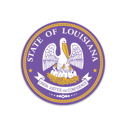 B&B Dry Goods Homegrown Louisiana Seal Decal - Purple