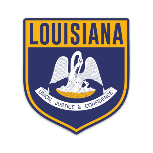 B&B Dry Goods Homegrown Louisiana Shield Decal