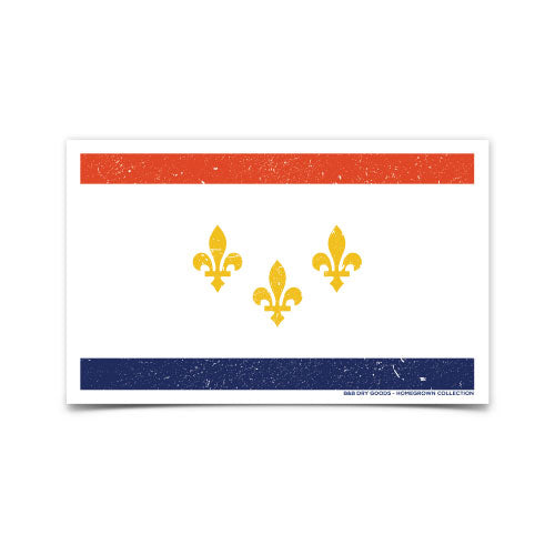 B&B Dry Goods Homegrown New Orleans Distressed Flag Decal