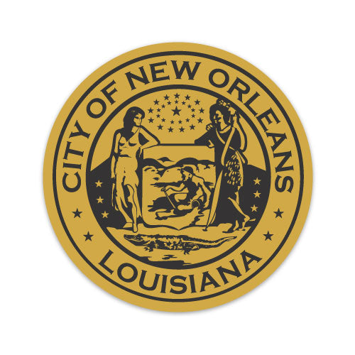 B&B Dry Goods Homegrown New Orleans Seal Decal