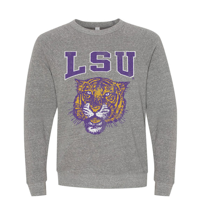 B&B Dry Goods LSU Tigers 78 Tiger Arch Youth Crewneck Sweatshirt - Grey