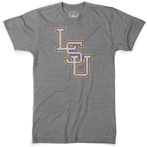 B&B Dry Goods LSU Tigers Baseball Interlock T-Shirt - Grey