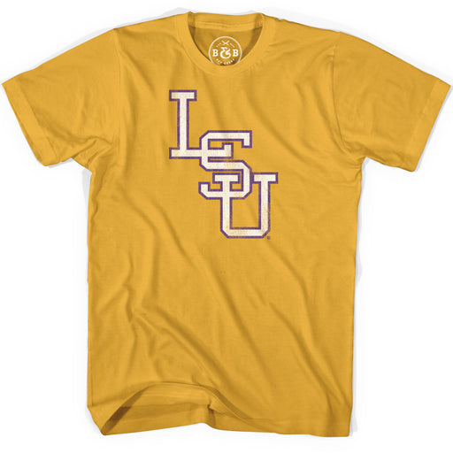 B&B Dry Goods LSU Tigers Baseball Interlock T-Shirt - Mustard