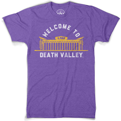 B&B Dry Goods LSU Tigers Welcome To Death Valley T-Shirt - Purple