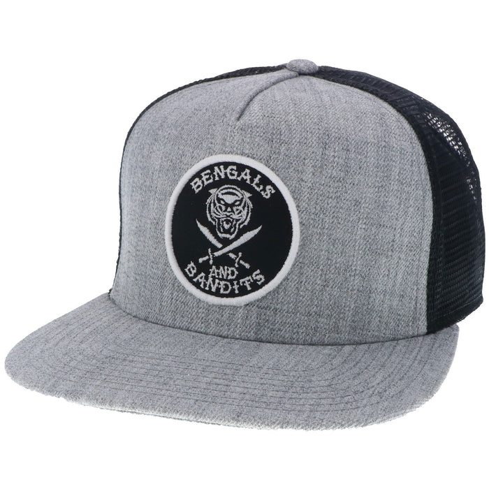 Bengals & Bandits High Crown Snapback Hat - Grey / Black