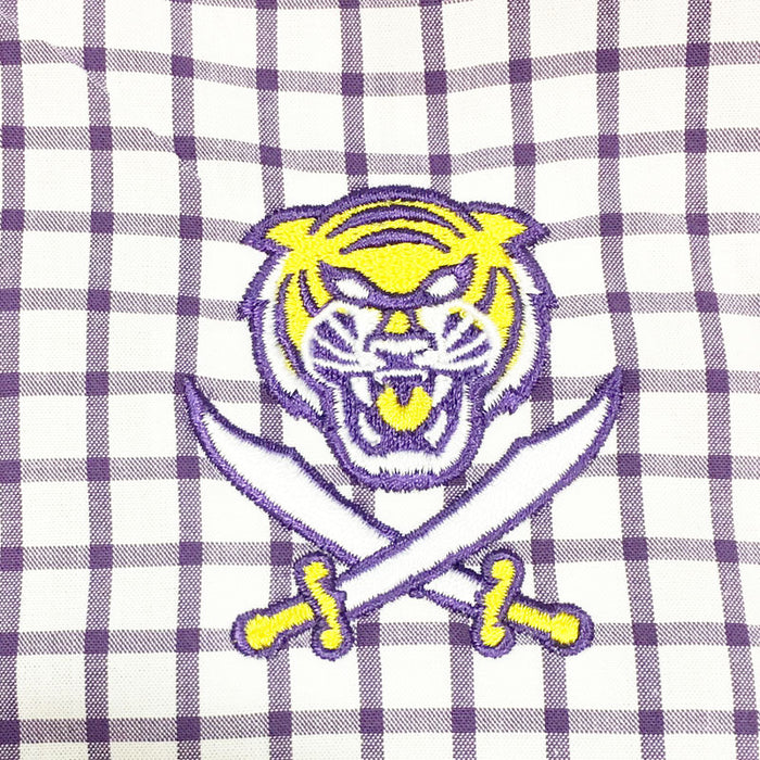 Bengals & Bandits Johnnie-O Alumni Long Sleeve Woven Shirt - Purple