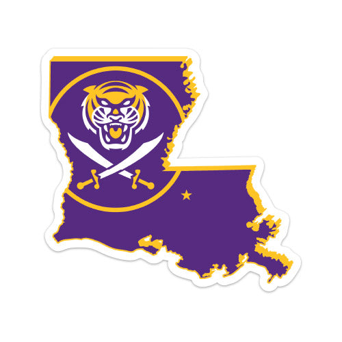 Bengals & Bandits Louisiana Outline Die Cut Decal