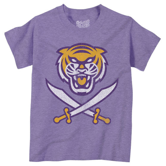 Bengals & Bandits Retro Brand Tri Color Infant / Toddler / Kids Tri-Blend T-Shirt - Purple