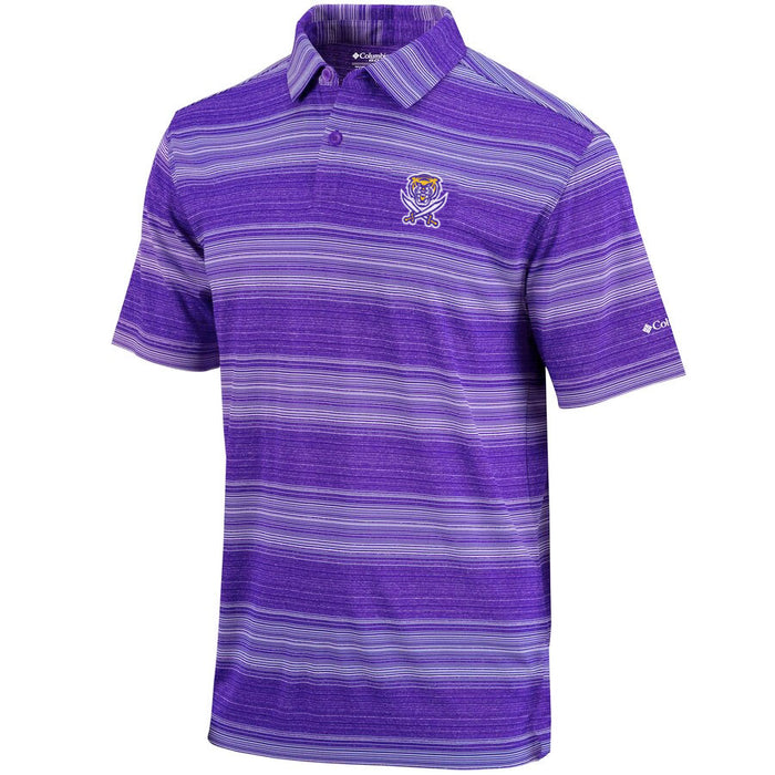 Bengals & Bandits Columbia Sportswear Golf Slide Stripe Polo - Purple