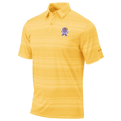 Bengals & Bandits Columbia Sportswear Golf Slide Stripe Polo - Gold