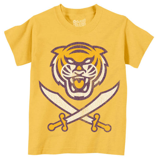 Bengals & Bandits Retro Brand Tri Color Infant Tri-Blend T-Shirt - Gold