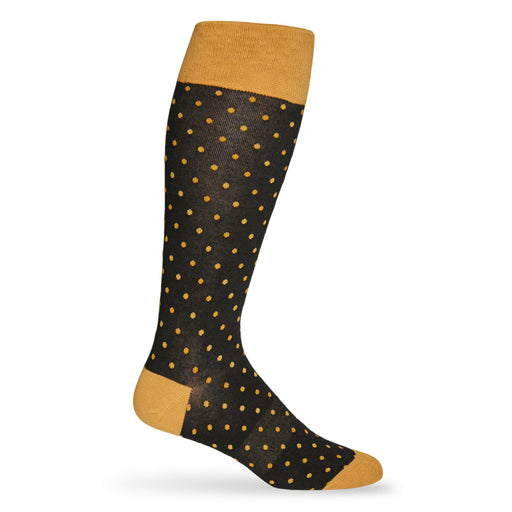 New Orleans Saints Dead Soxy Dots Dress Socks - Black