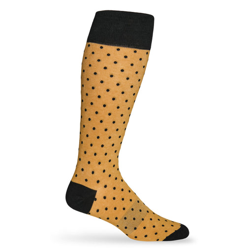 New Orleans Saints Dead Soxy Dots Dress Socks - Gold
