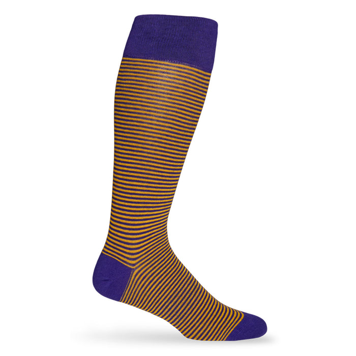 LSU Tigers Dead Soxy Mini Stripe Dress Socks