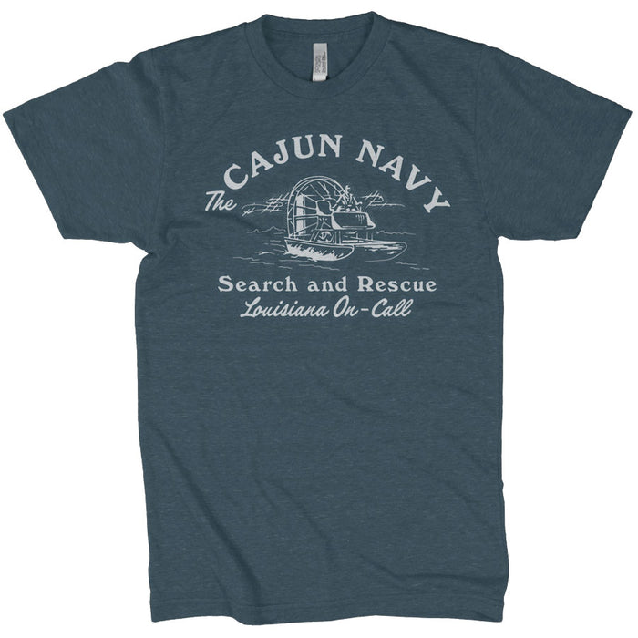 Dirty Coast Louisiana On Call Cajun Navy Tri-Blend T-Shirt - Indigo