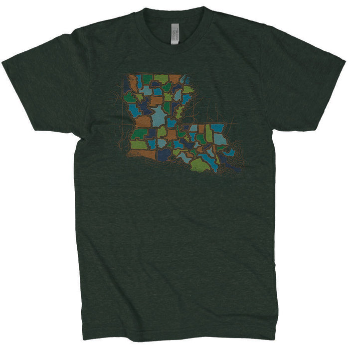 Dirty Coast Louisiana Imparishable Tri-Blend T-Shirt - Dark Green