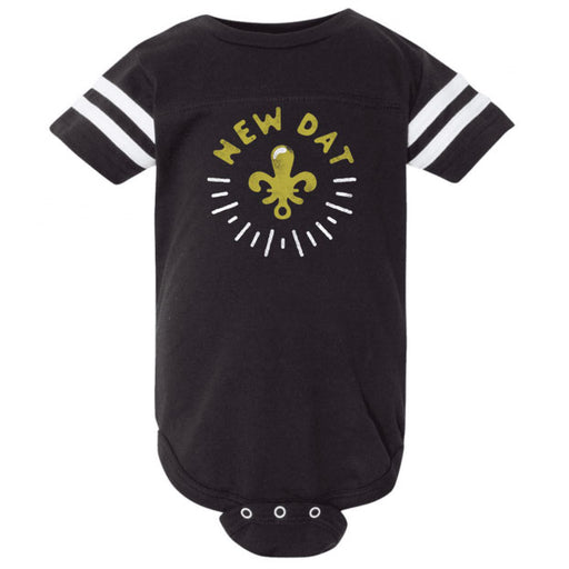 Dirty Coast Saints NOLA New Dat Infant Ringer Onesie - Black