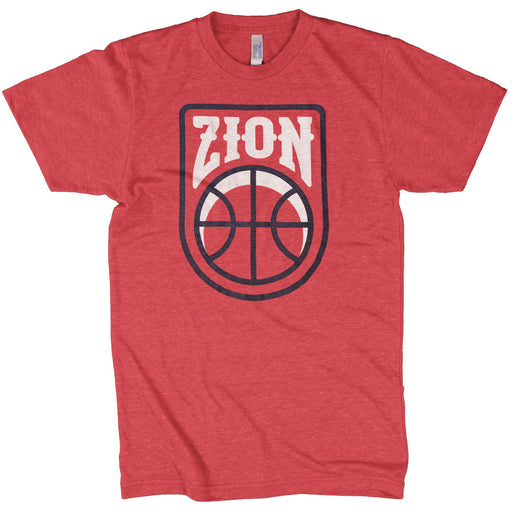 Dirty Coast New Orleans Pelicans ZION Tri-Blend T-Shirt - Red