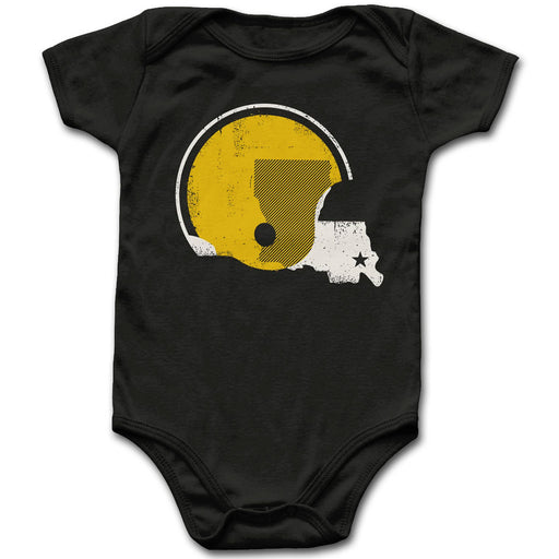 Dirty Coast Saints Black & Gold United Infant Ribbed Onesie - Black