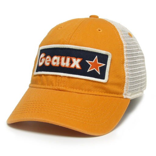 Geaux Streauxs Relaxed Twill Mesh Trucker Cap - Orange