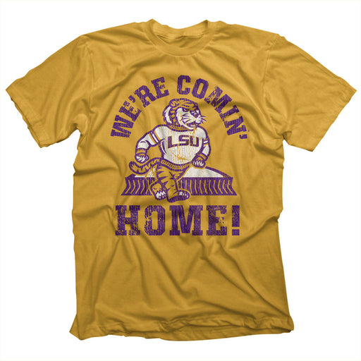 Highland & State LSU Tigers We're Coming Home Dome T-Shirt - Old Gold